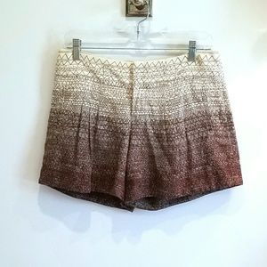 Anthropologie brown tan ombre shorts size 4